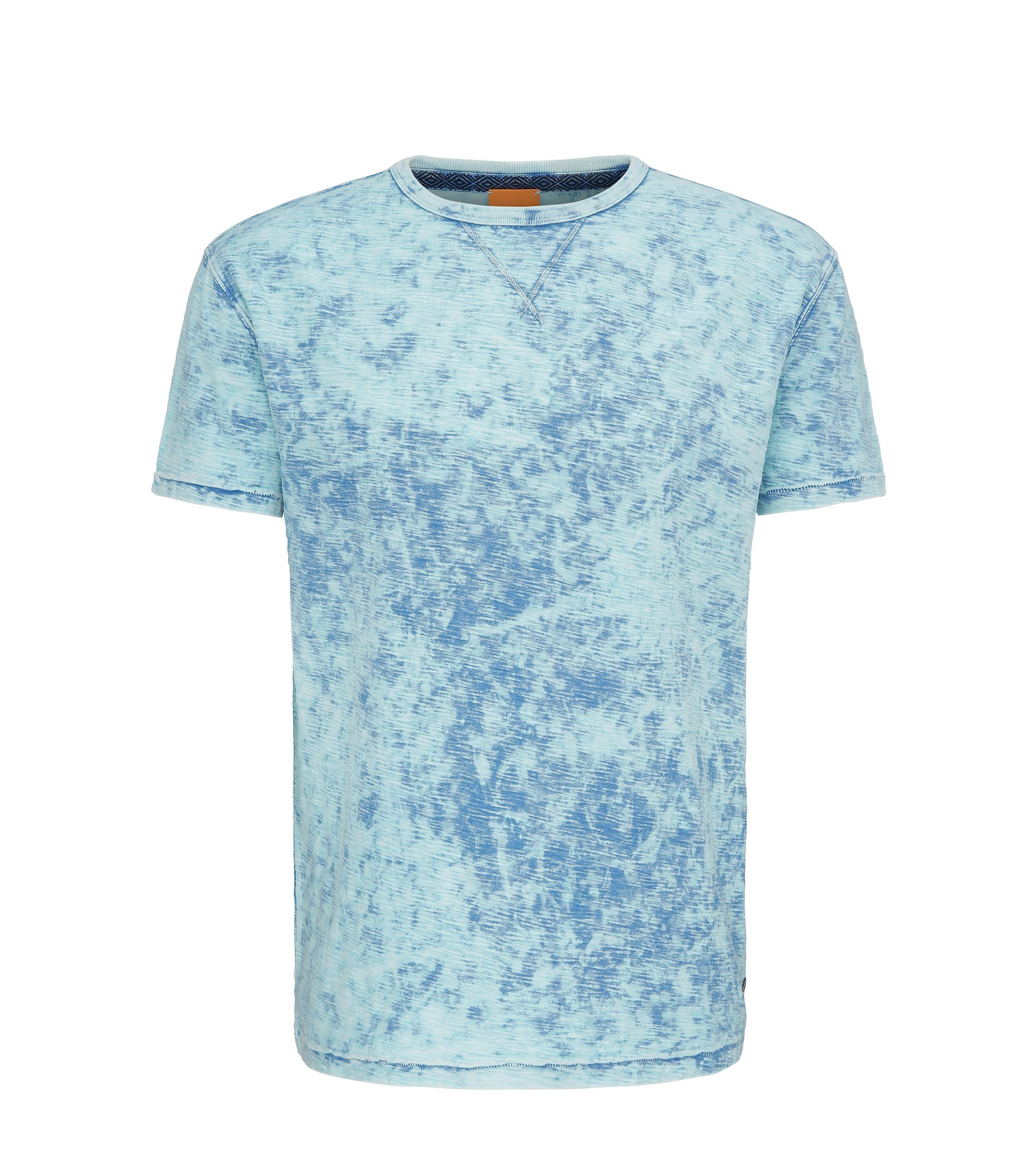 Heathered Cotton T-Shirt | Tay, Blue