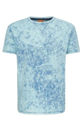 Heathered Cotton T-Shirt | Tay, Blue