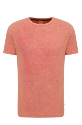 Heathered Cotton T-Shirt | Tay, Red