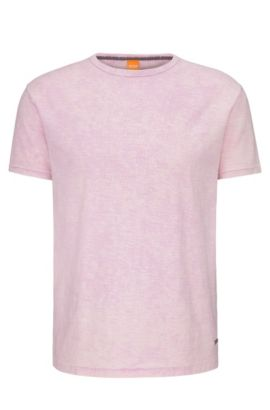 Heathered Cotton T-Shirt | Tay, light pink