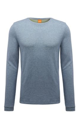 'Wanna' | Cotton Melange Long Sleeve Shirt, Light Grey