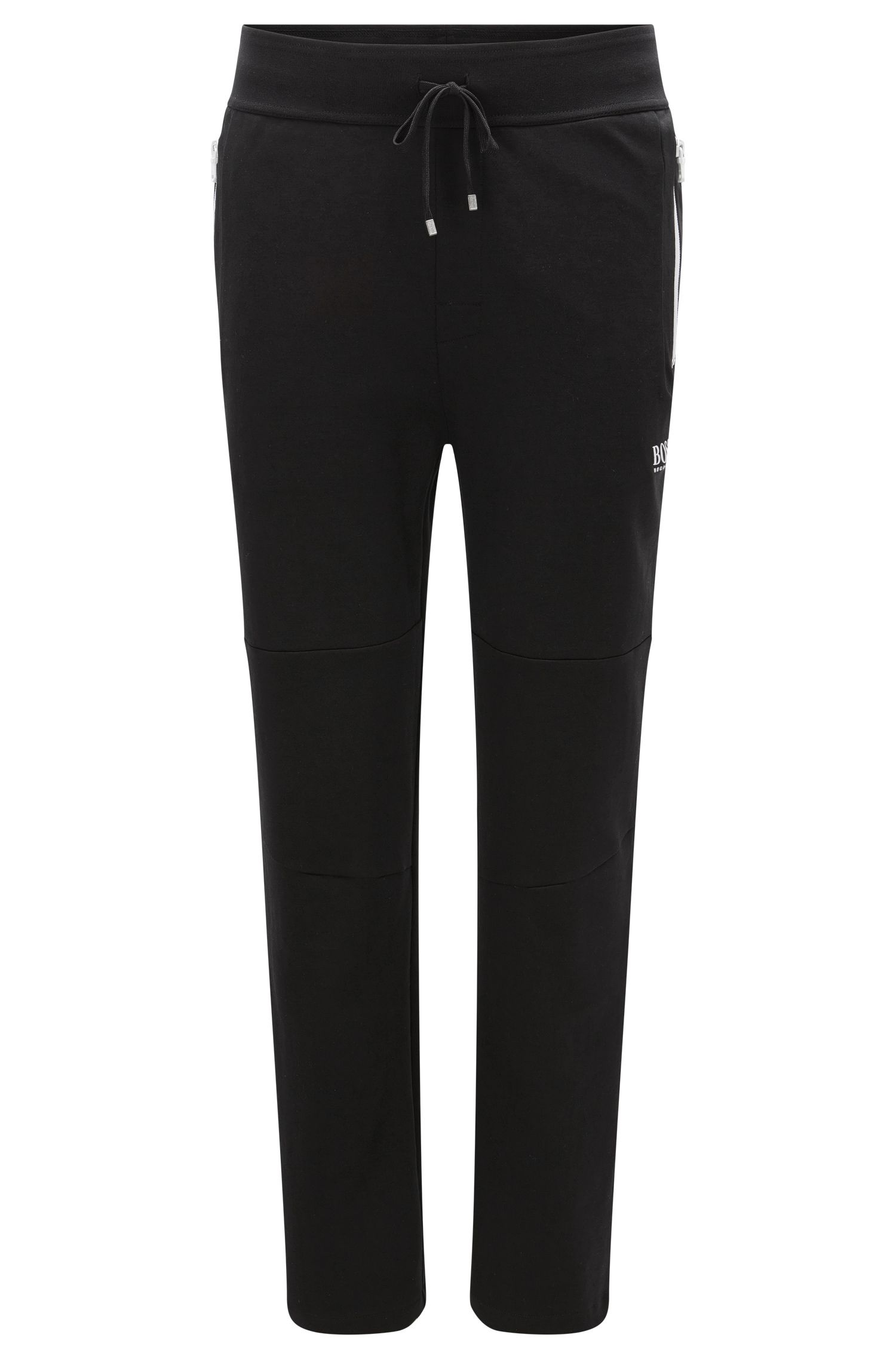 'Long Pant' | Tracksuit Bottoms in Cotton Blend with Contrasting Color Zips