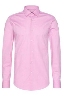 Tattersall Stretch Cotton Dress Shirt, Slim Fit | Jenno, light pink