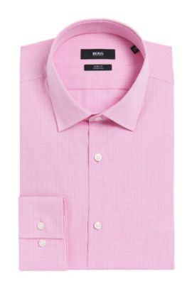 Tattersall Dress Shirt, Slim Fit | Jenno  , light pink