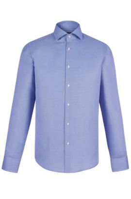 Cotton Dress Shirt, Regular Fit | Gordon , Blue
