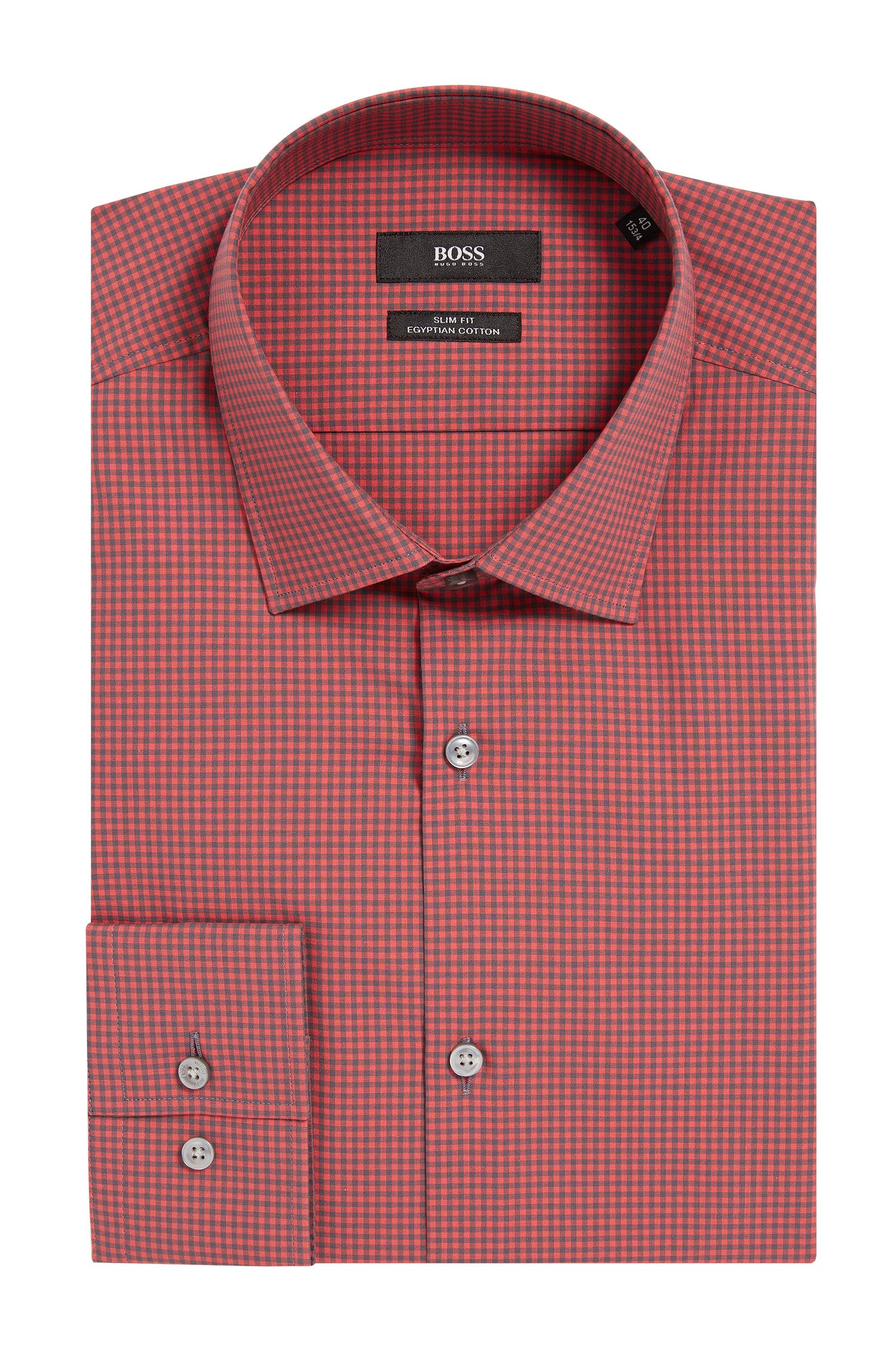 Mini Gingham Egyptian Cotton Dress Shirt, Slim Fit | Jenno