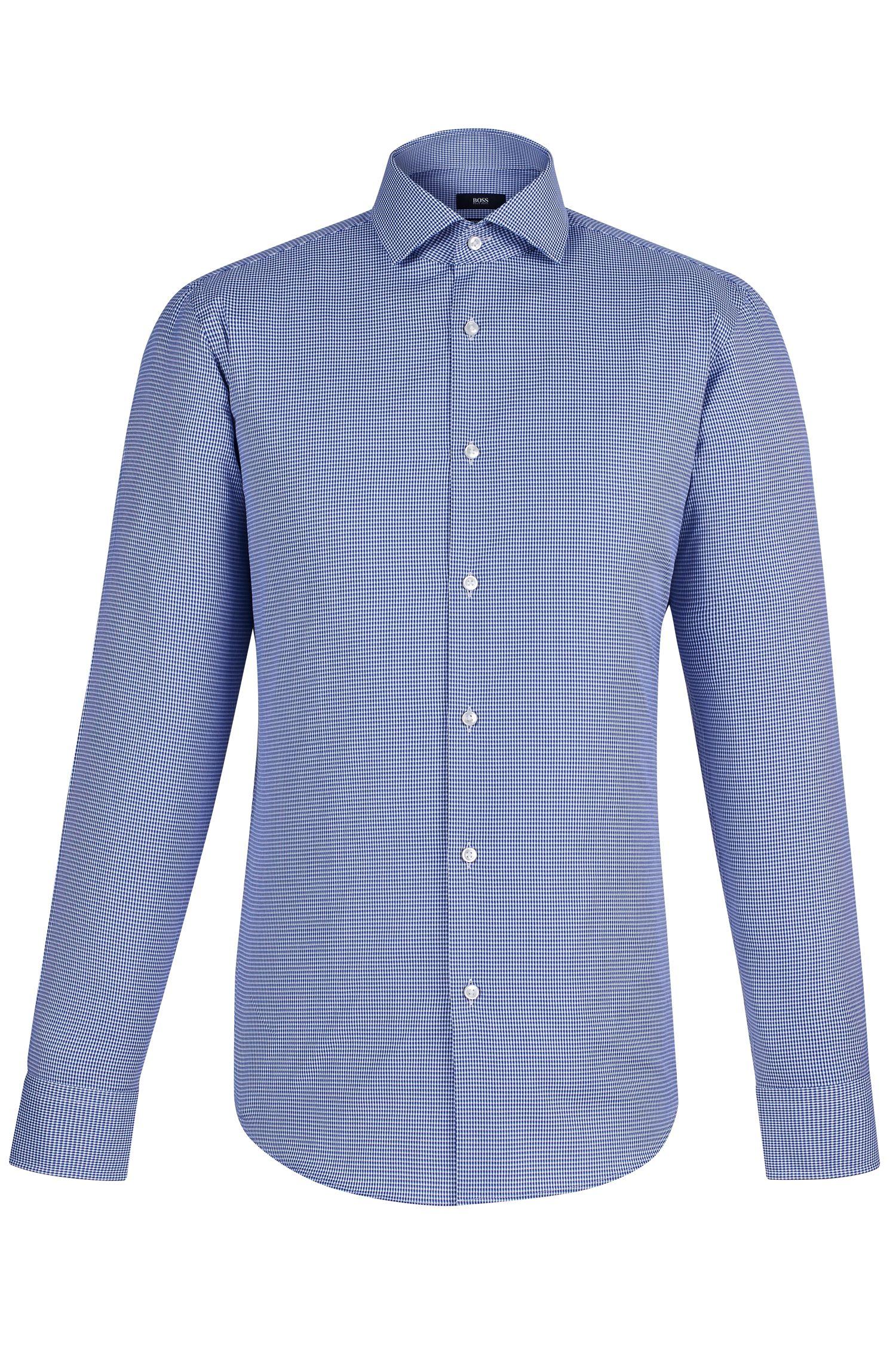 Micro-check Egyptian Cotton Dress Shirt, Regular Fit | Gordon