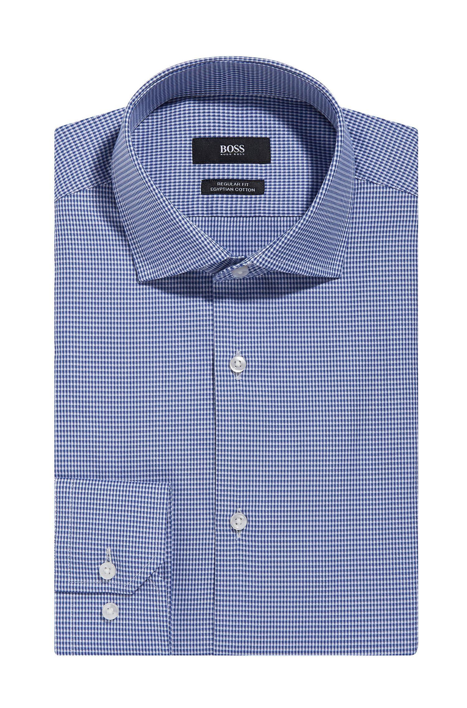 Microcheck Egyptian Cotton Dress Shirt, Regular Fit | Gordon
