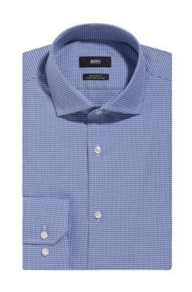 Microcheck Egyptian Cotton Dress Shirt, Regular Fit | Gordon, Blue