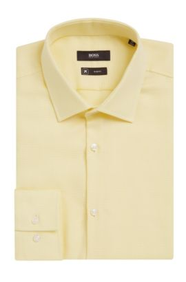 Fresh Active Traveler Dress Shirt, Slim Fit | Jenno, Yellow