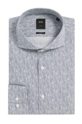 Italian Cotton Dress Shirt, Slim Fit | T-Christo, Dark Blue