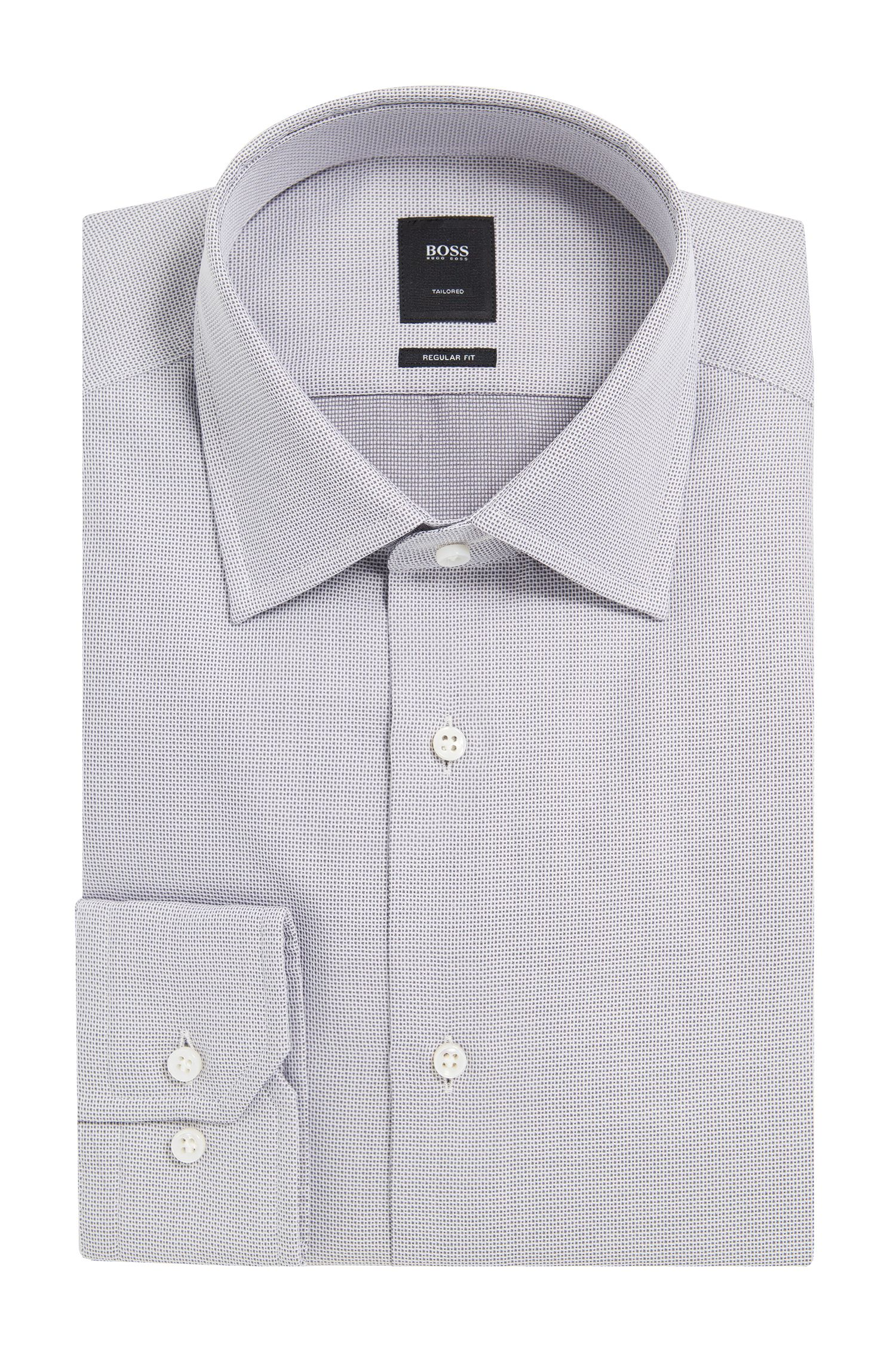 End-on-End Cotton Dress Shirt, Regular Fit | T-Stuart