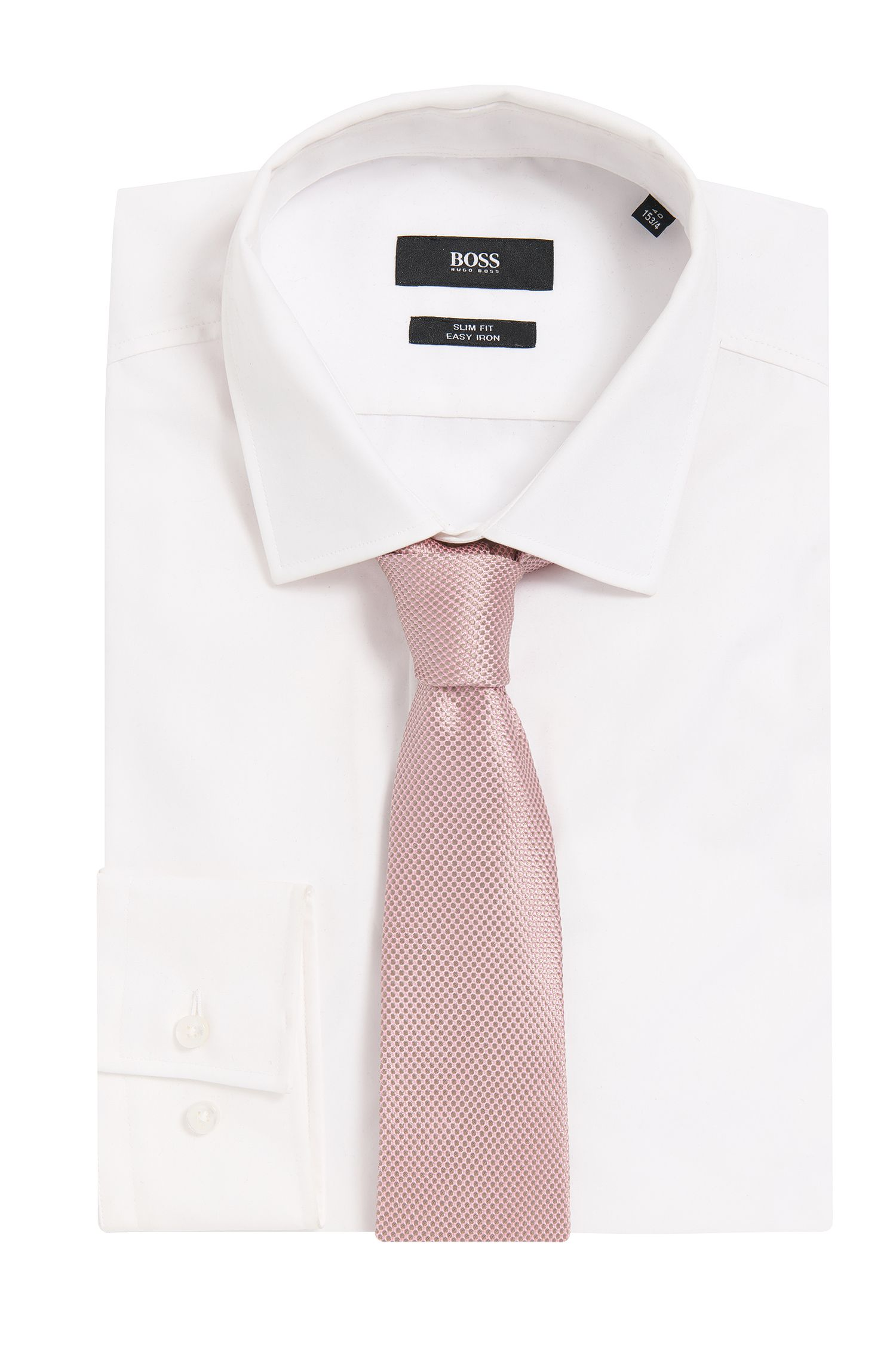 BOSS Tailored Birdseye Italian Silk Tie