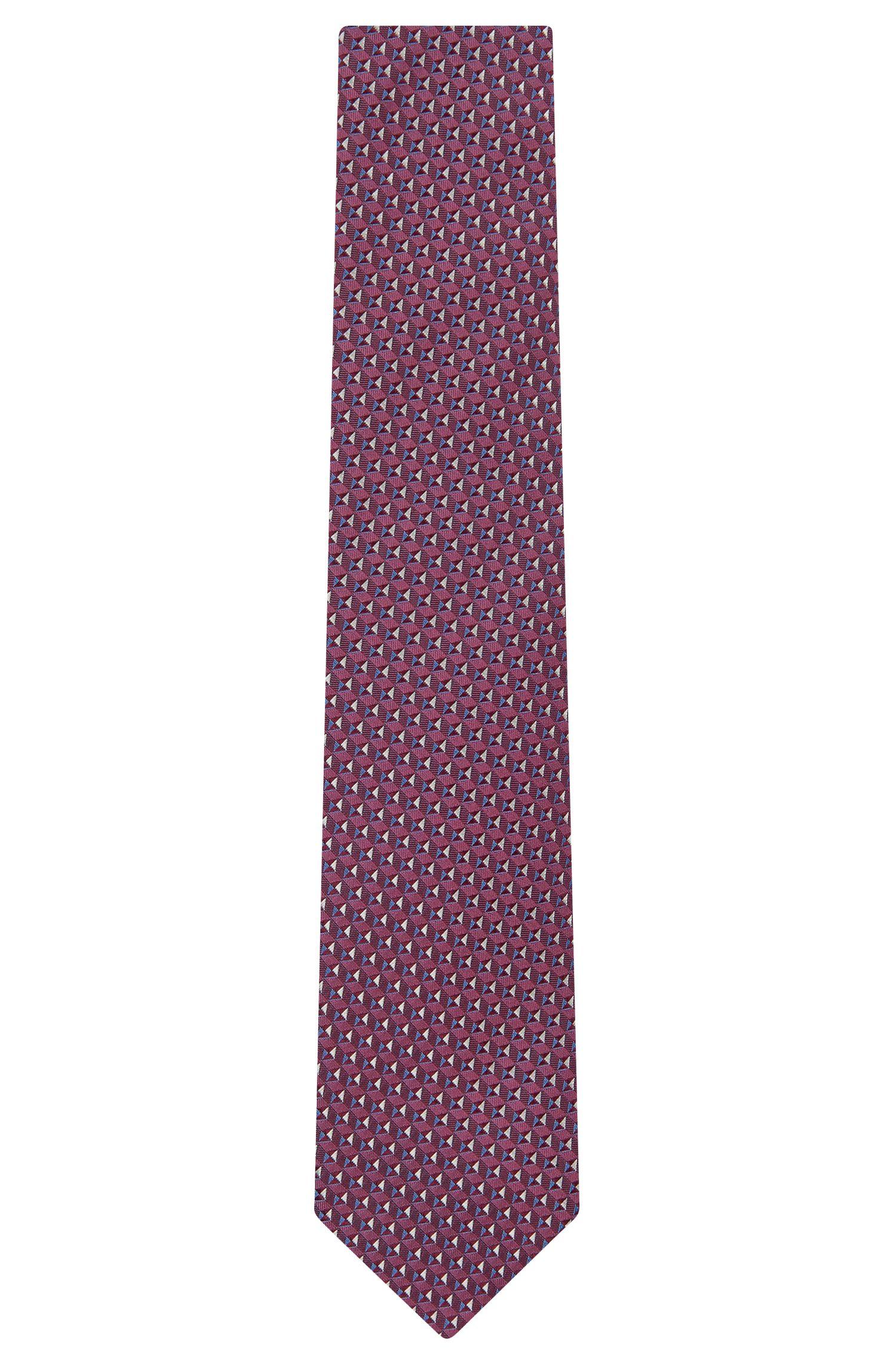 Birdseye Italian Silk Tie, T-Tie 7.5 cm