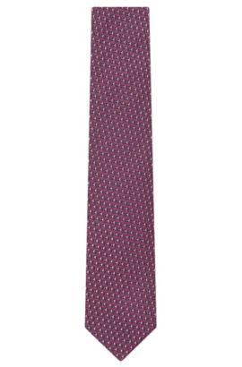 Birdseye Italian Silk Tie, T-Tie 7.5 cm, Pink