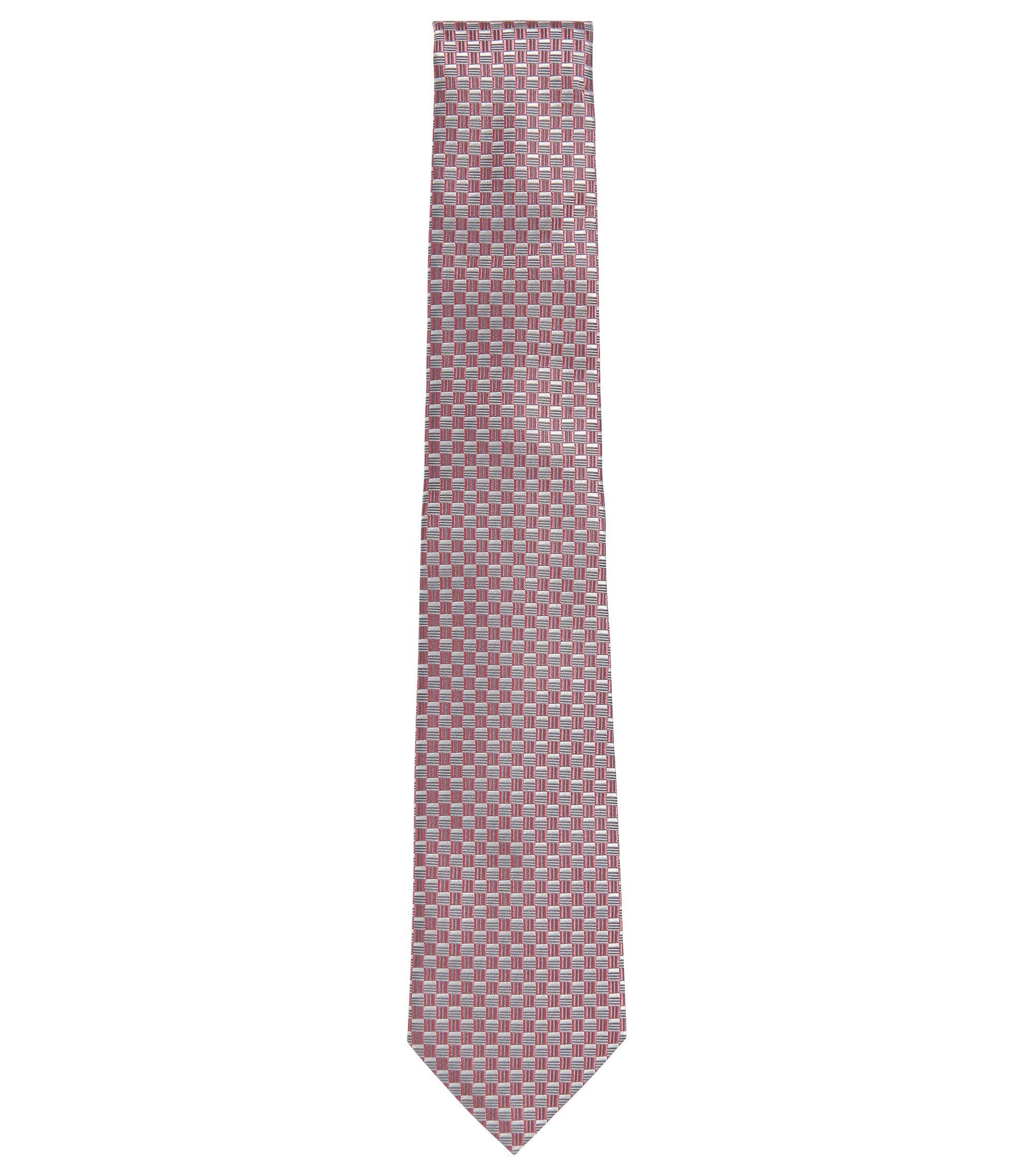 BOSS Tailored Birdseye Italian Silk Tie, Pink