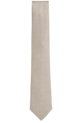 'T-Tie 7.5 cm' | Regular, Silk Jacquard Tie, Natural