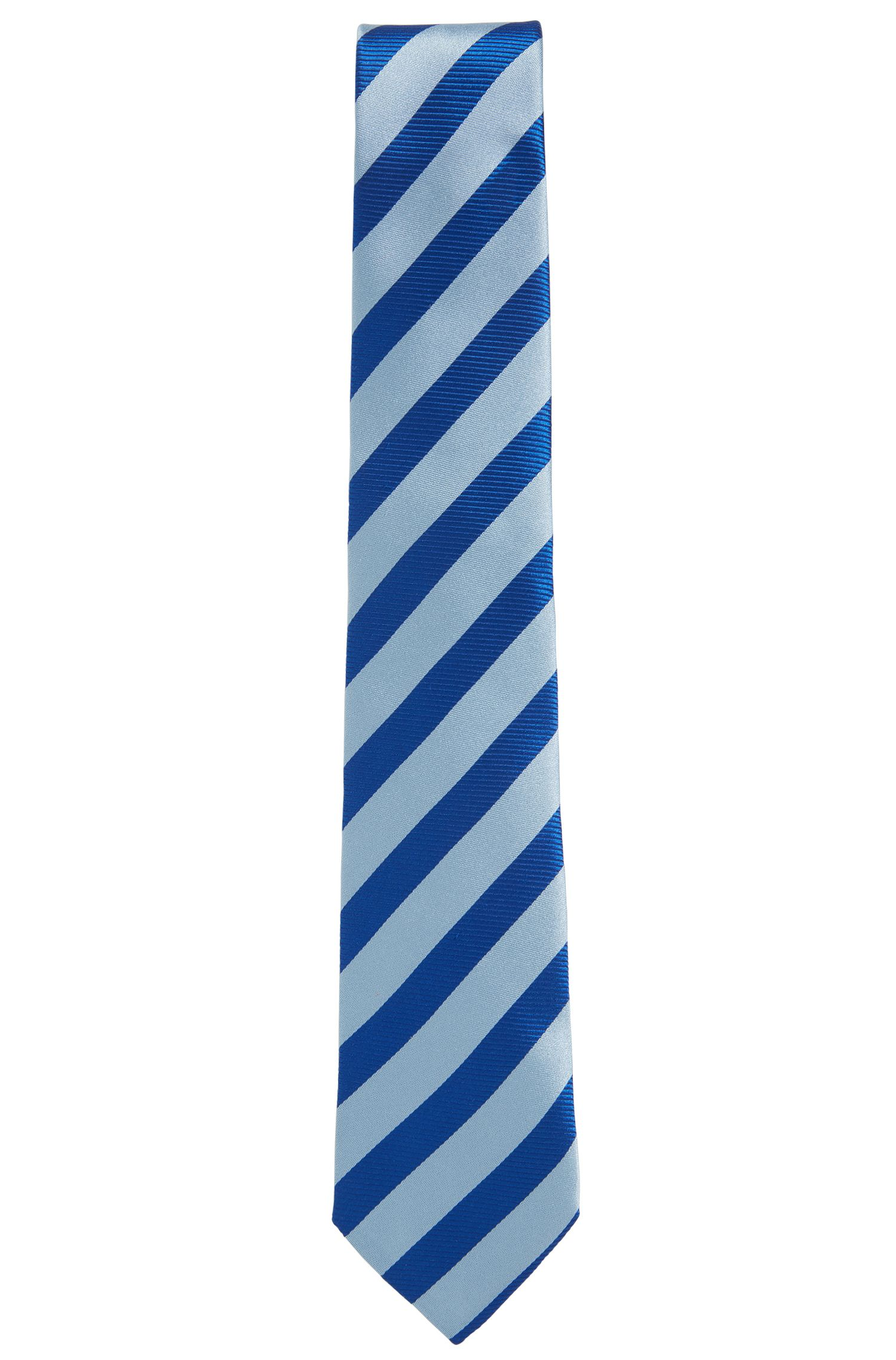 BOSS Tailored Italian Silk Jacquard Tie, Blue