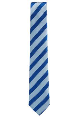 'T-Tie 7.5 cm' | Regular, Silk Jacquard Tie, Blue