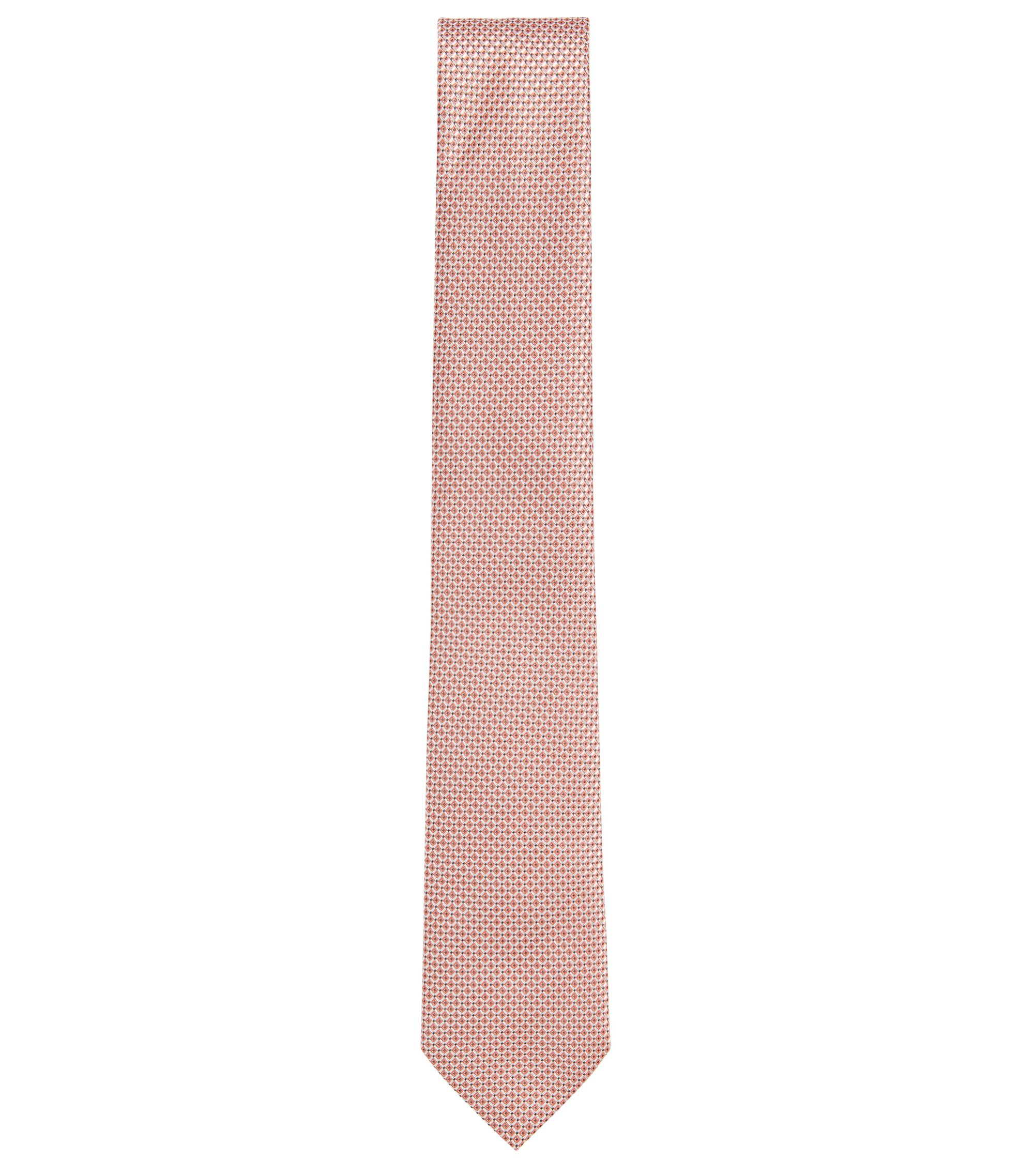 BOSS Tailored Italian Silk Jacquard Tie, Open Red