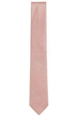 'T-Tie 7.5 cm' | Regular, Silk Jacquard Tie, Open Red