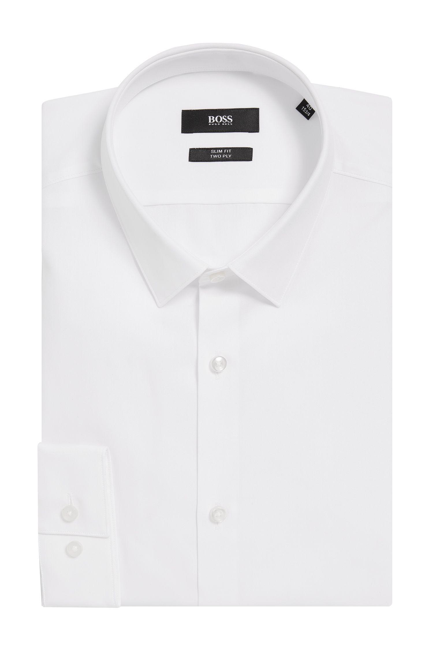 2-Ply Cotton Dress Shirt, Slim Fit | Ilan