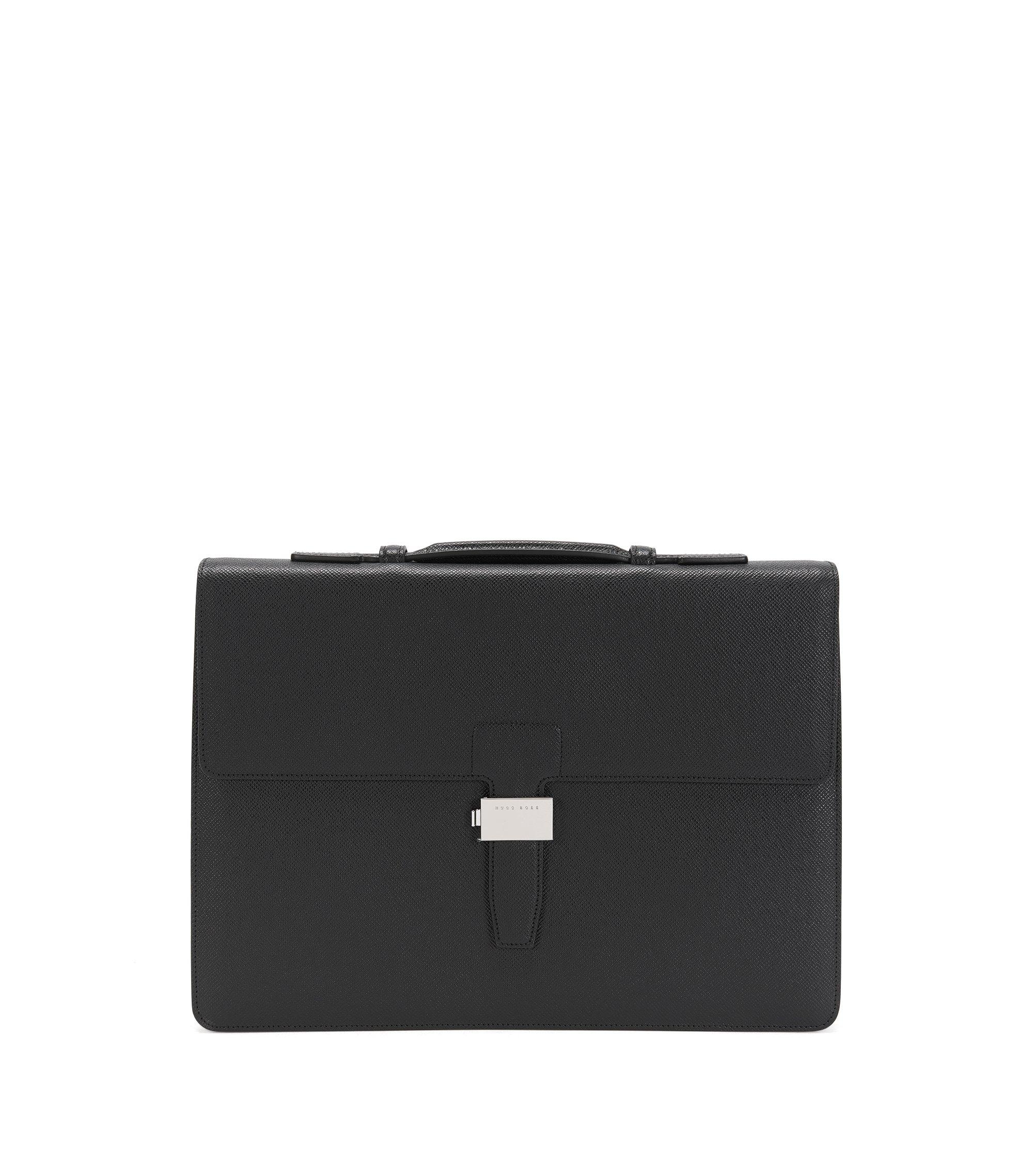 Leather Briefcase | Signature Brief SN, Black