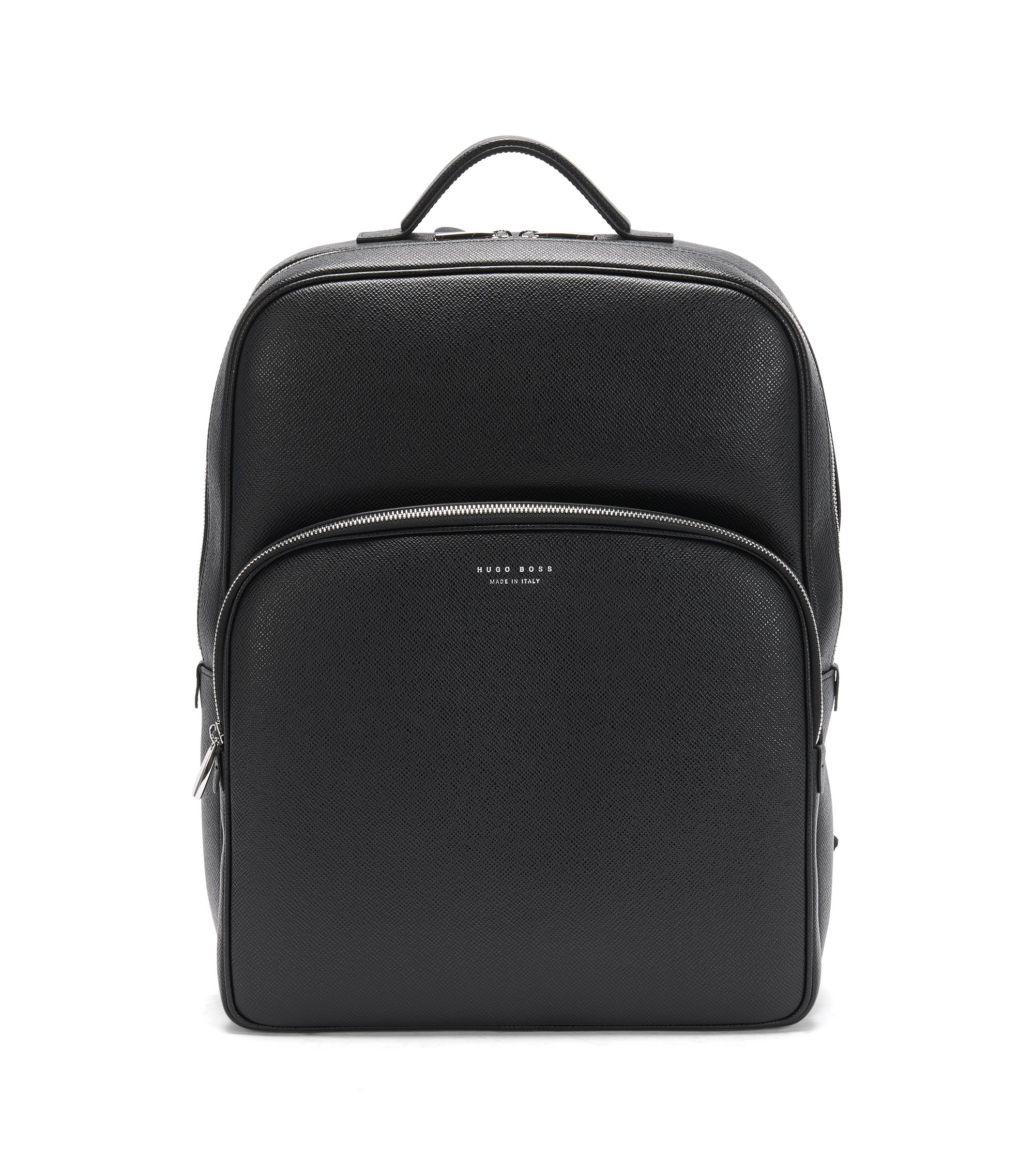 Calfskin Palmellato Backpack | Signature B Backpack, Black