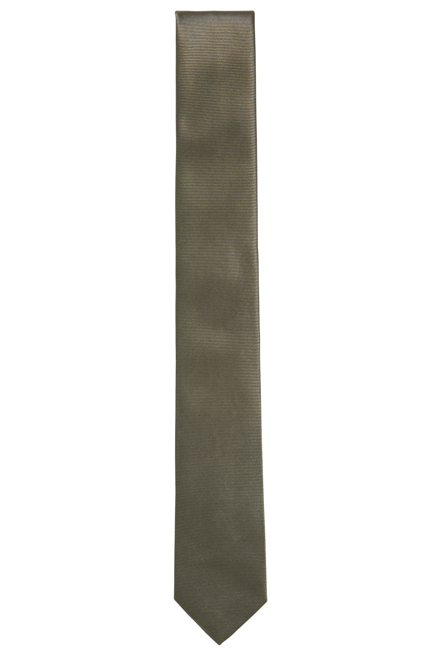 BOSS Tailored Italian Silk Slim Tie, Dark Green