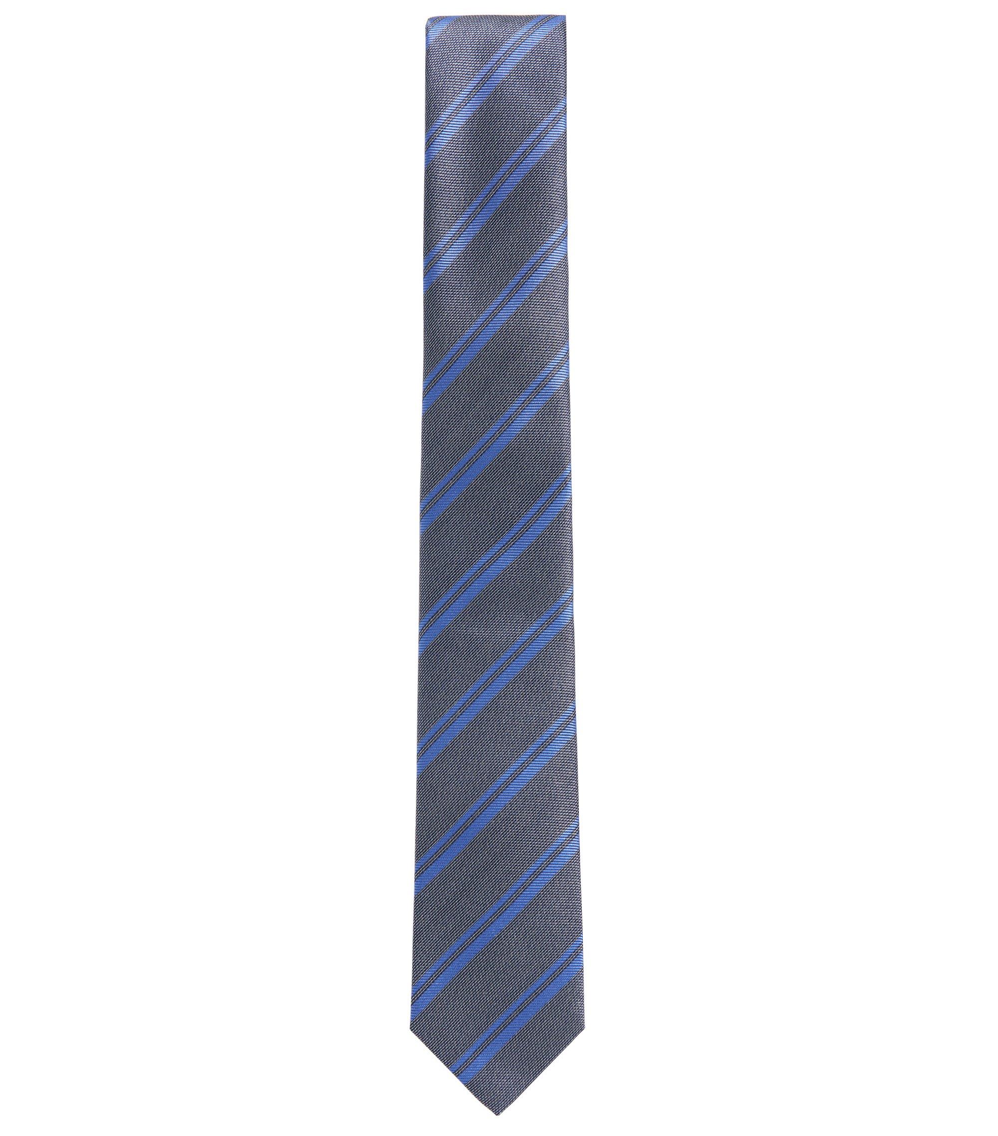 BOSS Tailored Striped Italian Silk Tie, Blue