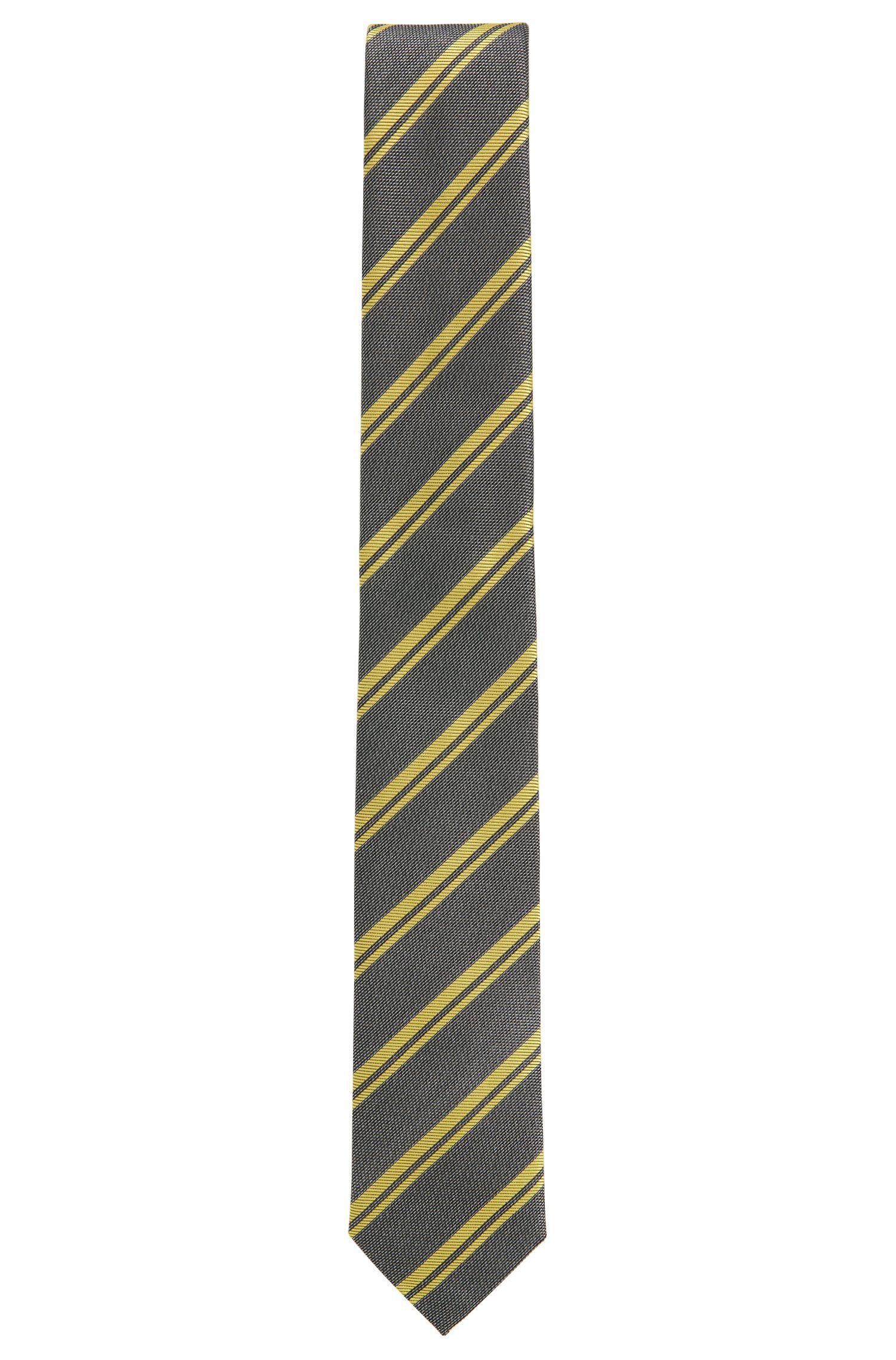 'T-Tie 6 cm' | Slim, Striped Italian Silk Tie