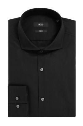 2-Ply Cotton Dress Shirt, Slim Fit | Jason, Black