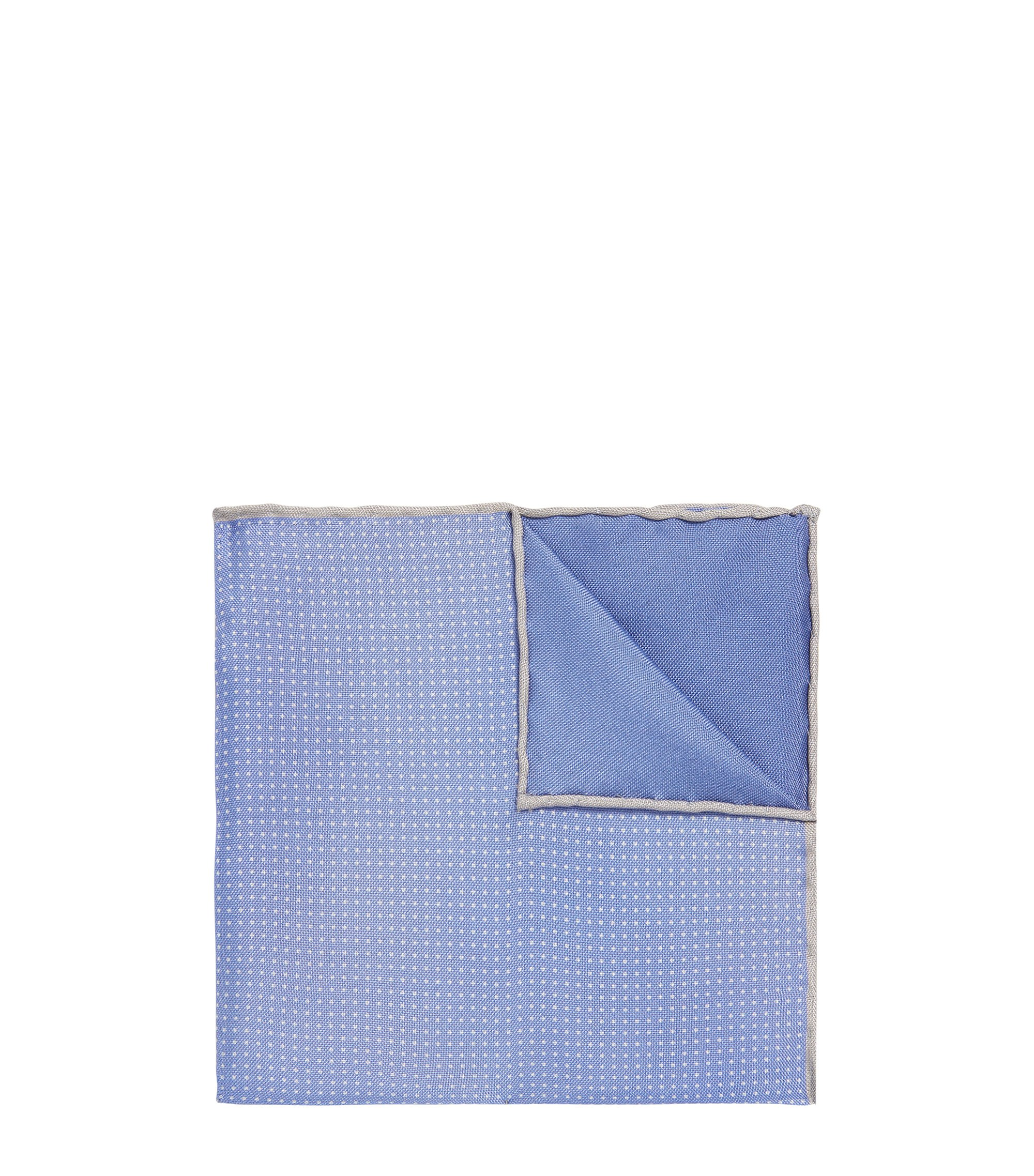 BOSS Tailored Pindot Italian Silk Pocket Square, Blue
