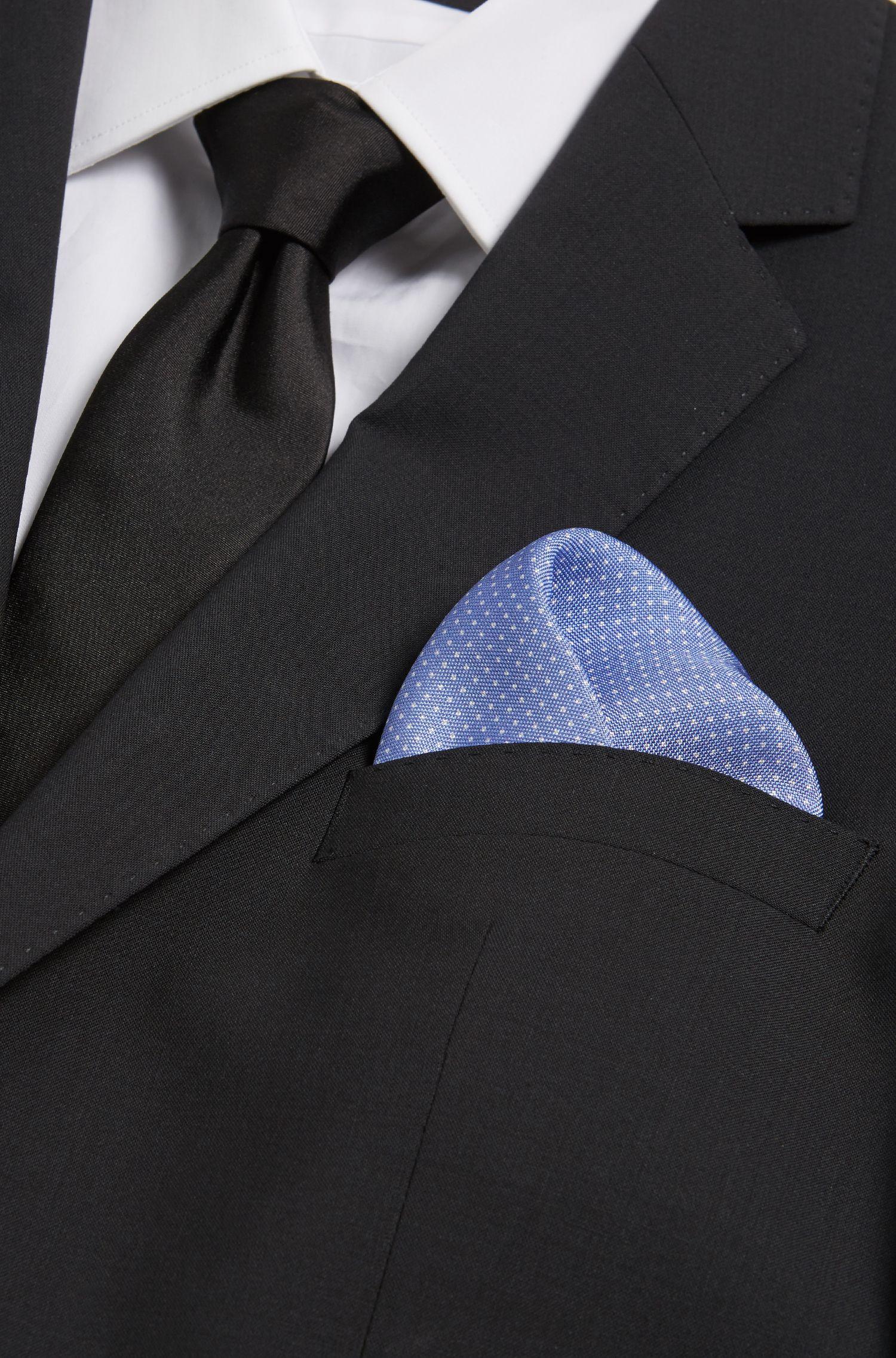 BOSS Tailored Pindot Italian Silk Pocket Square