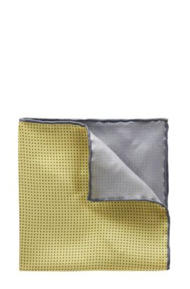 'T-Pocket sq. cm 33x33' | Italian Silk Pocket Square, Yellow