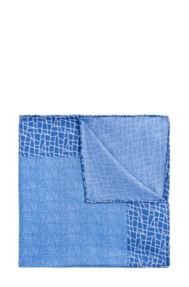 'T-Pocket sq. cm 33x33' | Italian Silk Pocket Square, Blue
