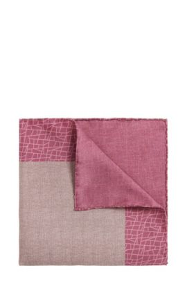 'T-Pocket sq. cm 33x33' | Italian Silk Pocket Square, Pink