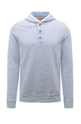 'Wizard' | Cotton Hooded Sweatshirt, Blue
