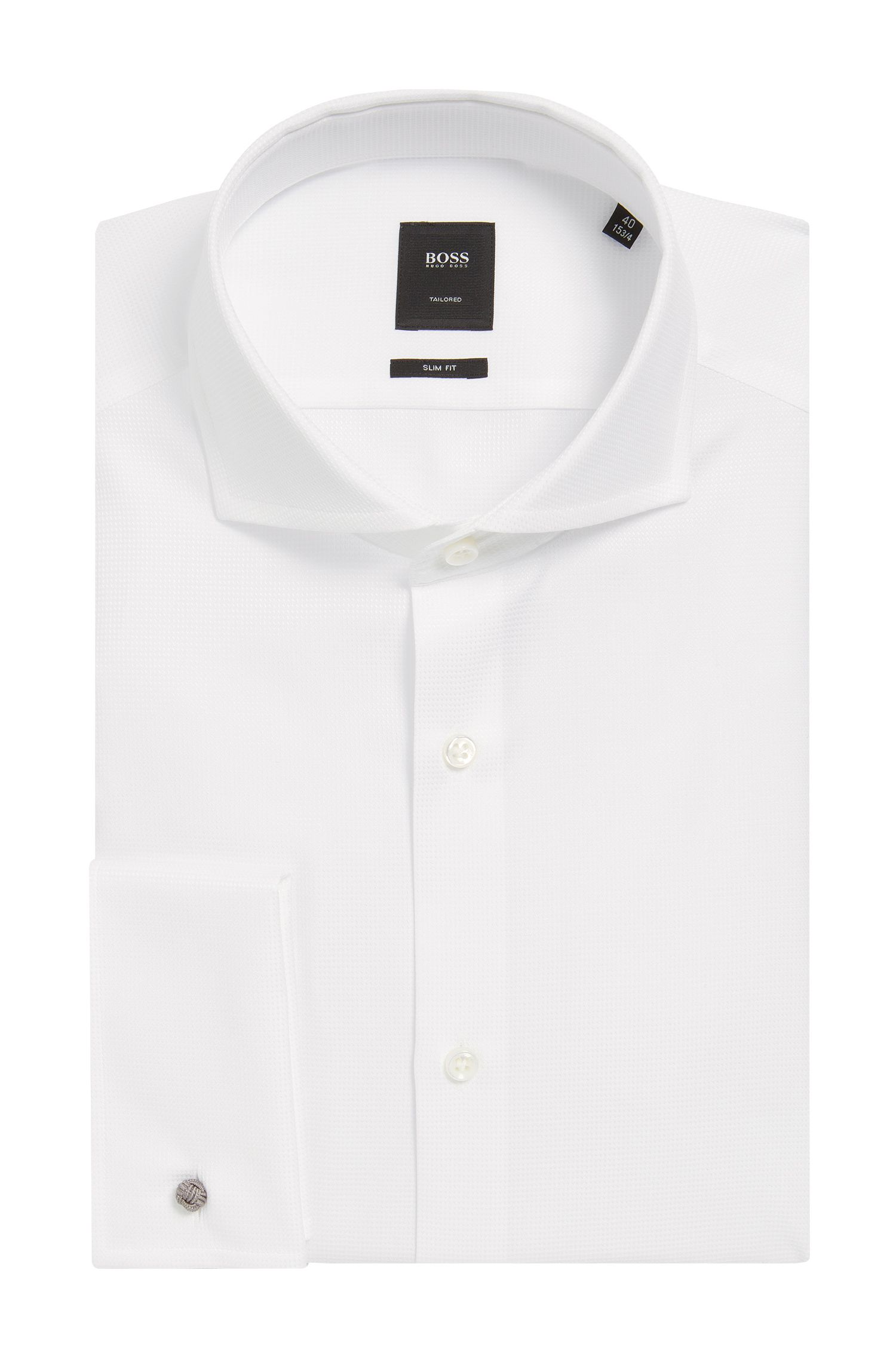Dobby Cotton Dress Shirt, Slim Fit | T-Yacob