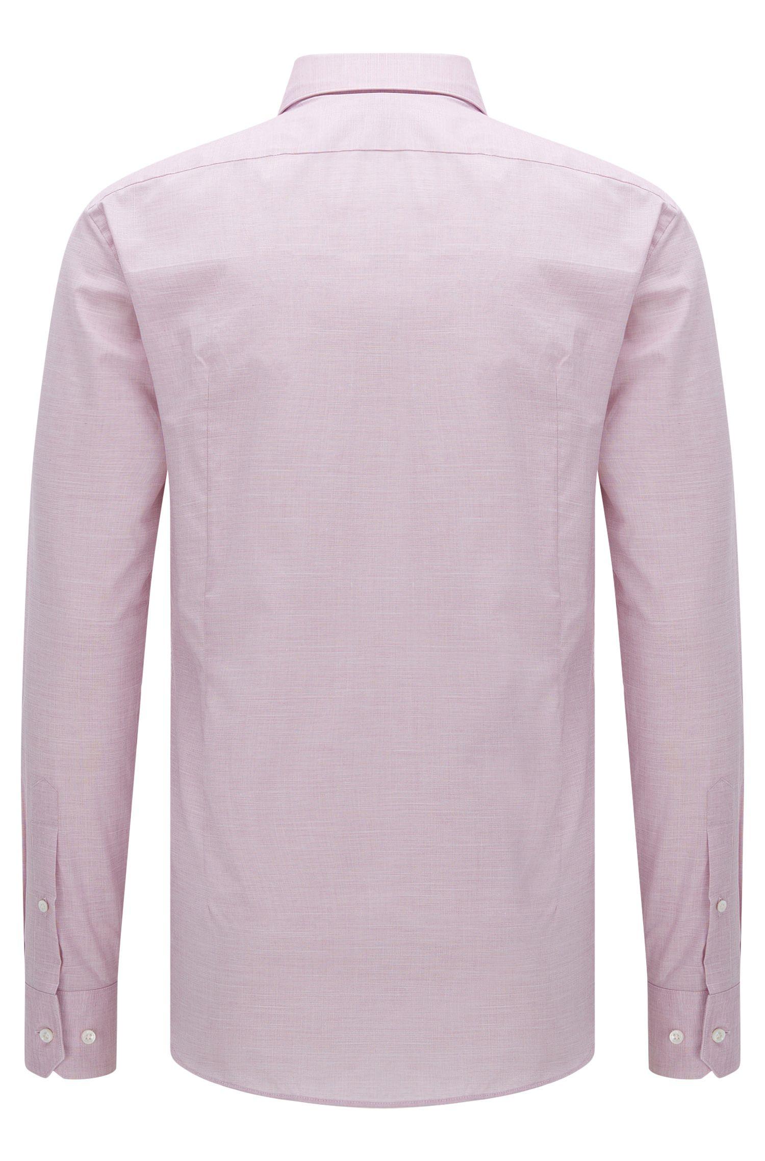 Italian Stretch Cotton Dress Shirt, Slim Fit | T-Clint, Purple