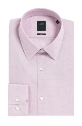 Italian Stretch Cotton Dress Shirt, Slim Fit | T-Clint, Purple