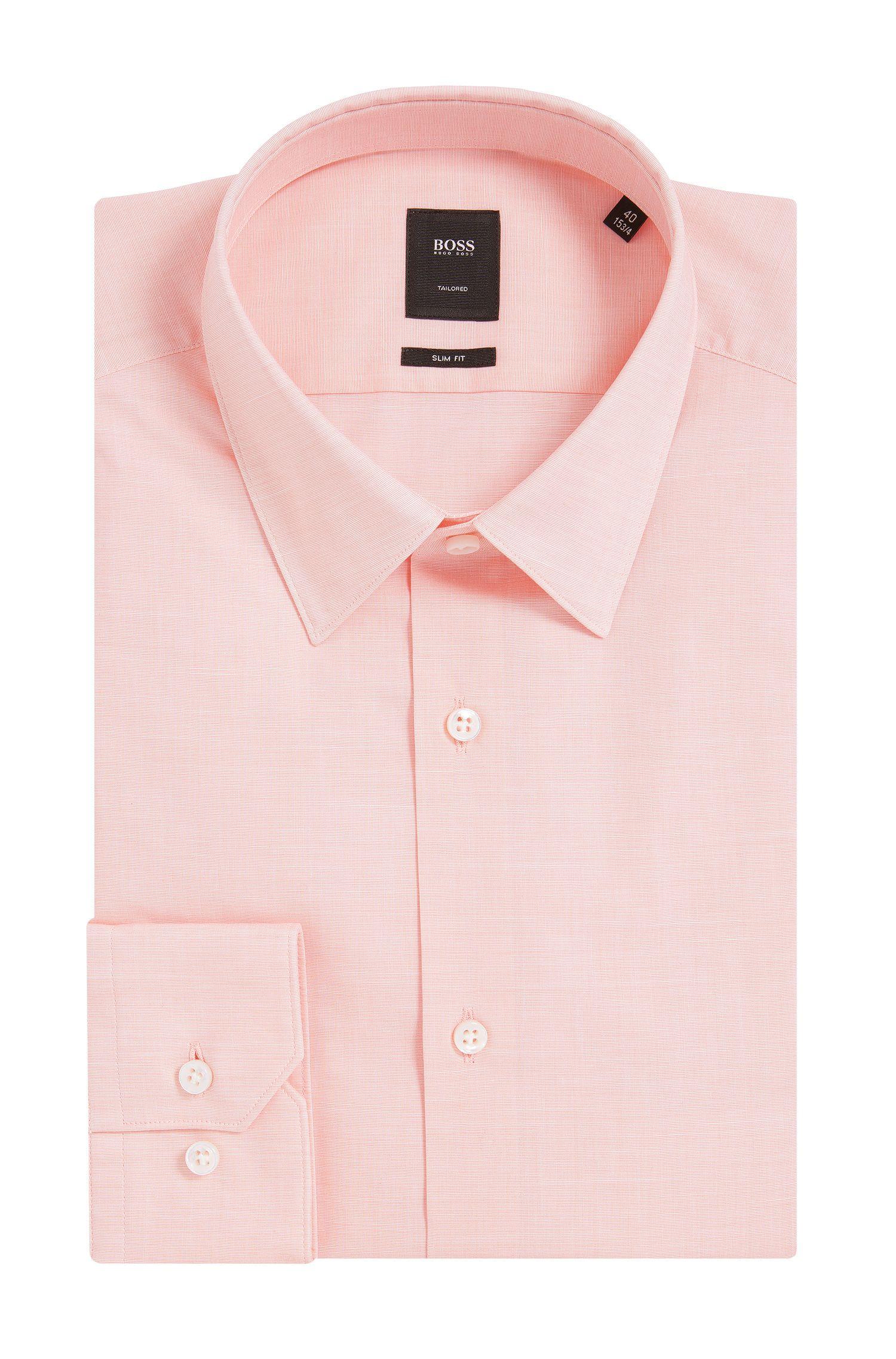 Italian Stretch Cotton Dress Shirt, Slim Fit   T-Clint