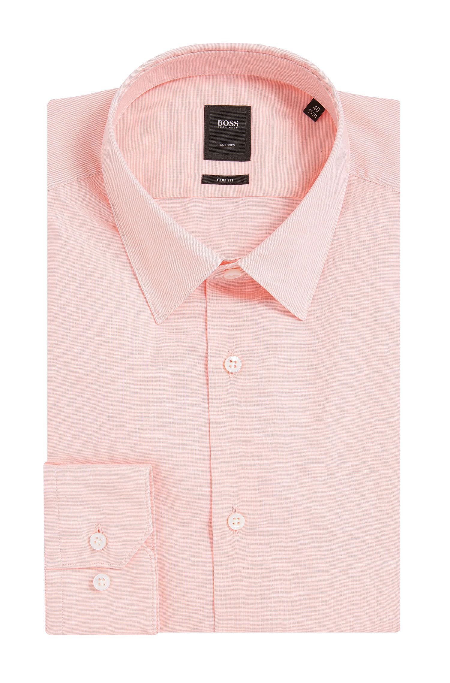 Italian Stretch Cotton Dress Shirt, Slim Fit | T-Clint