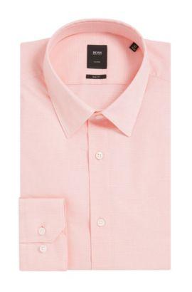 Italian Stretch Cotton Dress Shirt, Slim Fit | T-Clint, Light Orange