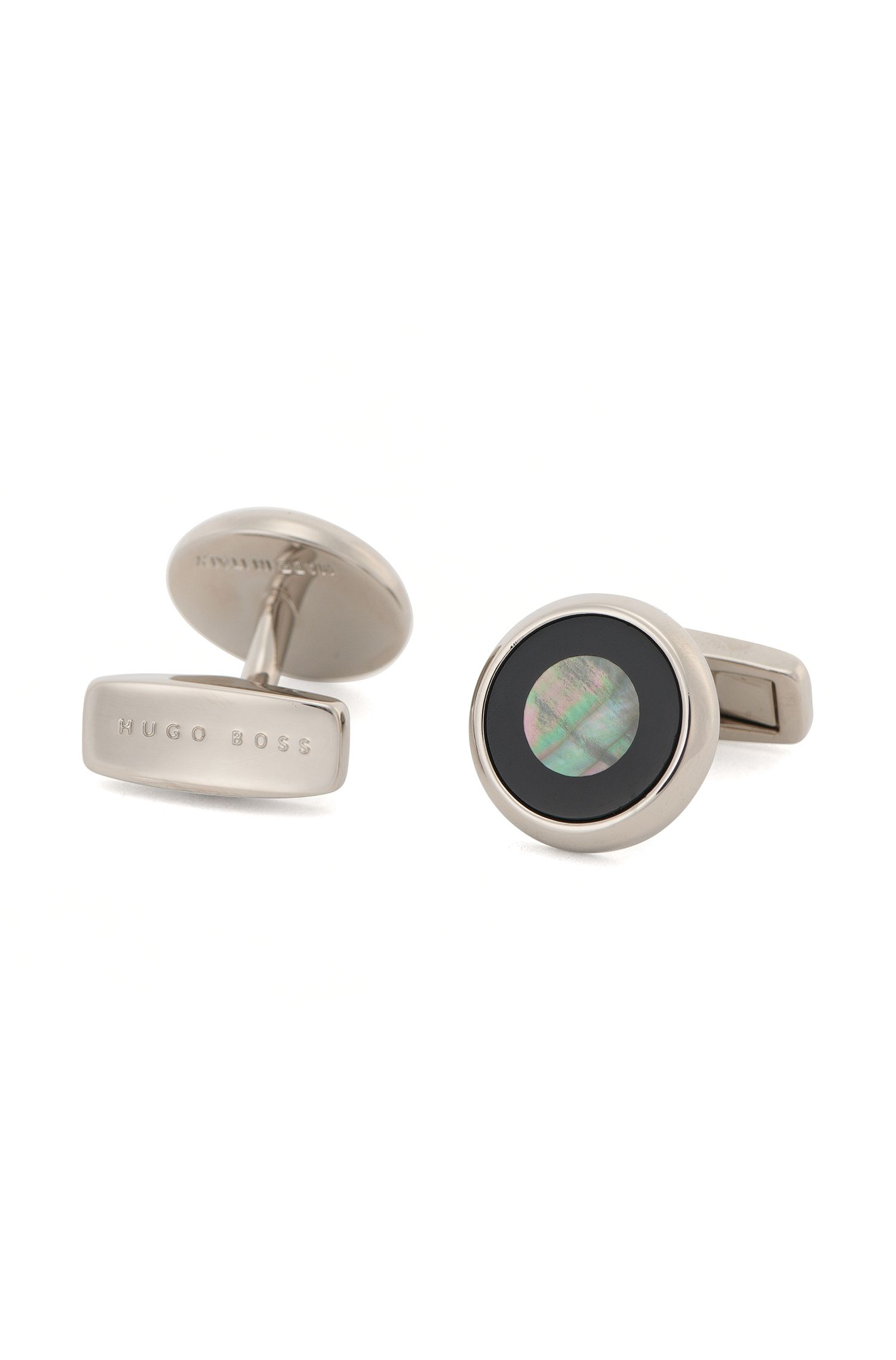 'T-Gordon' | Mother-Of-Pearl Brass Cufflinks