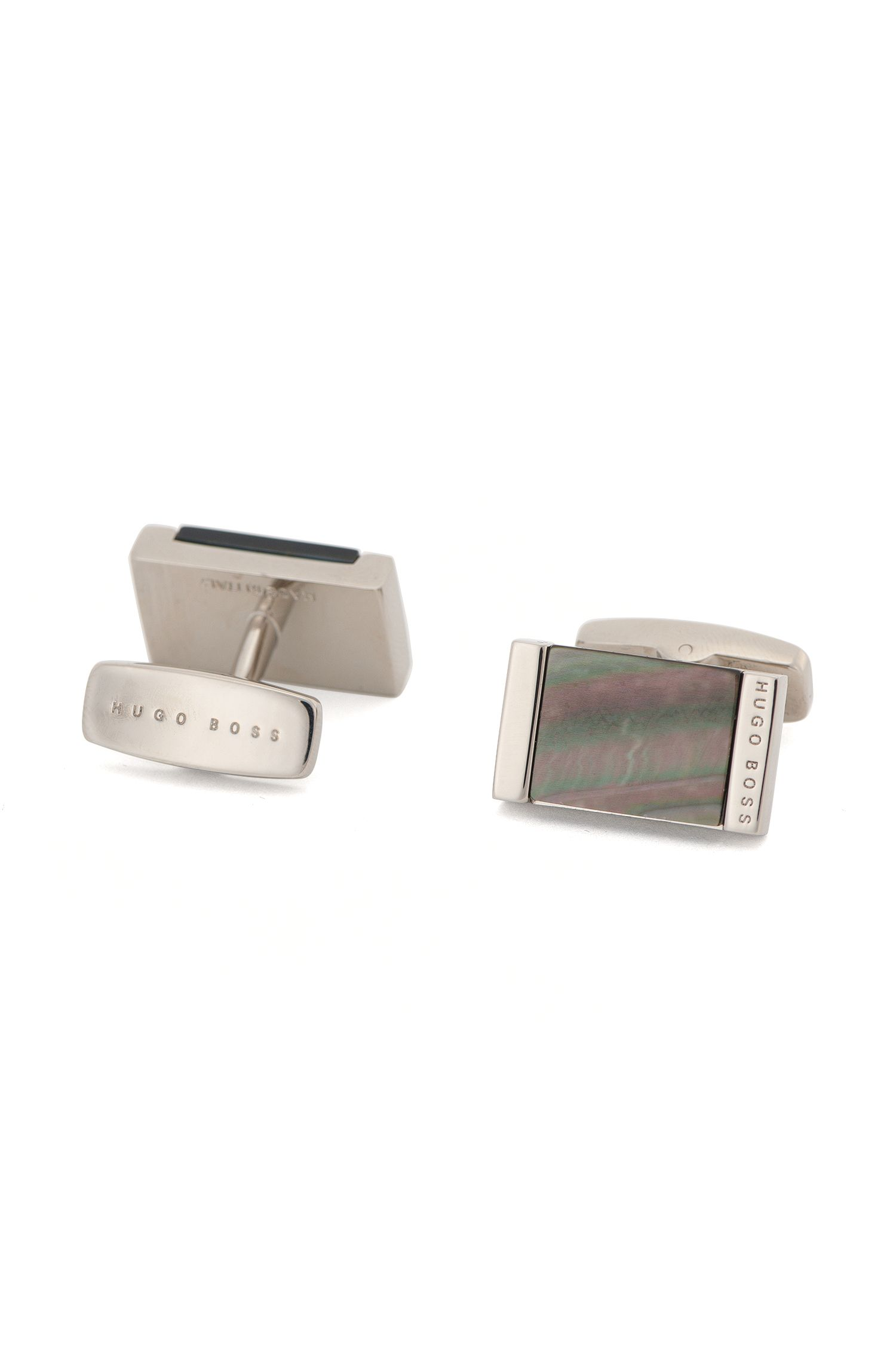 Mother-Of-Pearl Brass Cufflinks | T-Harold