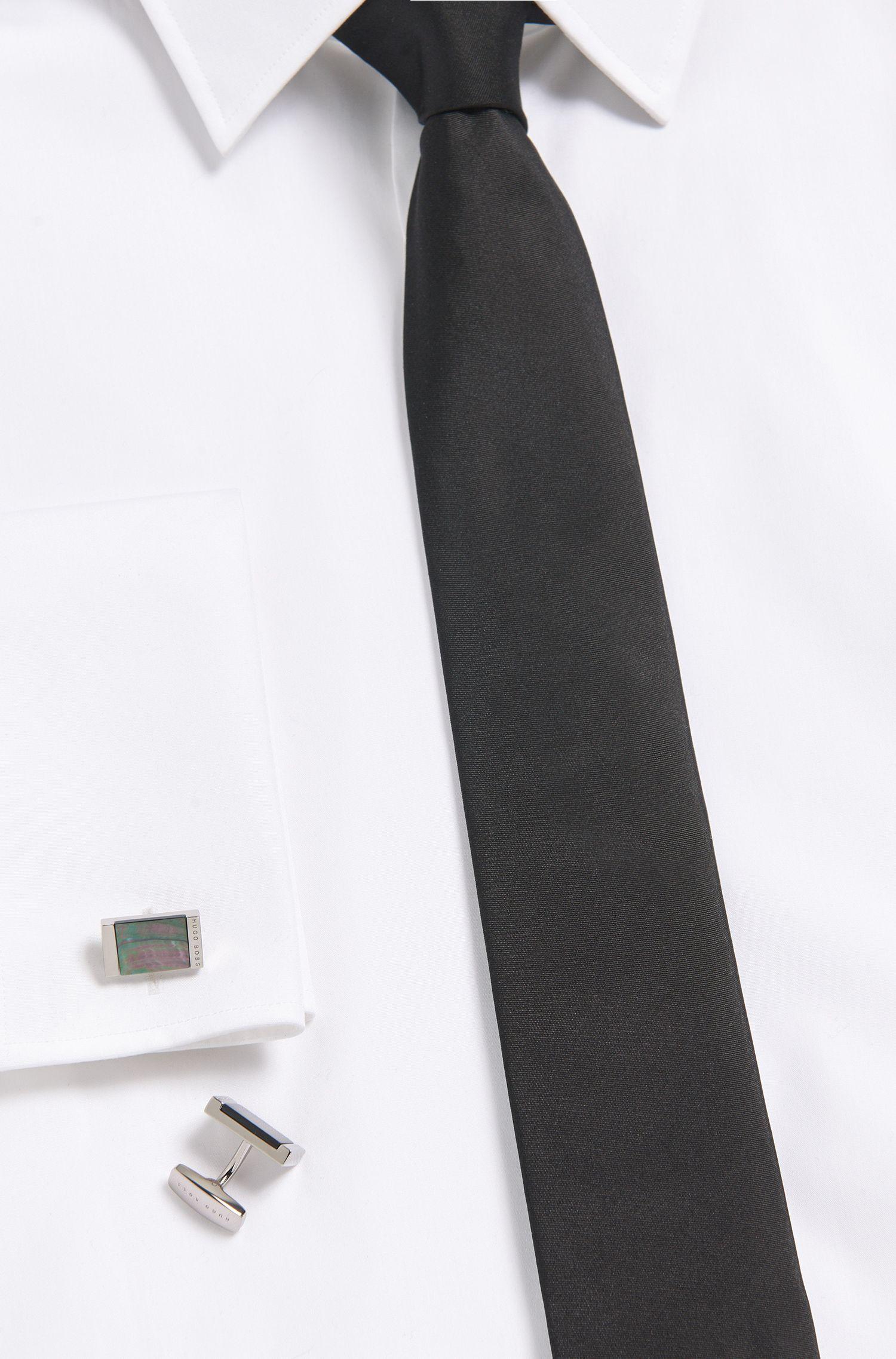 Mother-Of-Pearl Brass Cufflinks | T-Harold, Dark Grey
