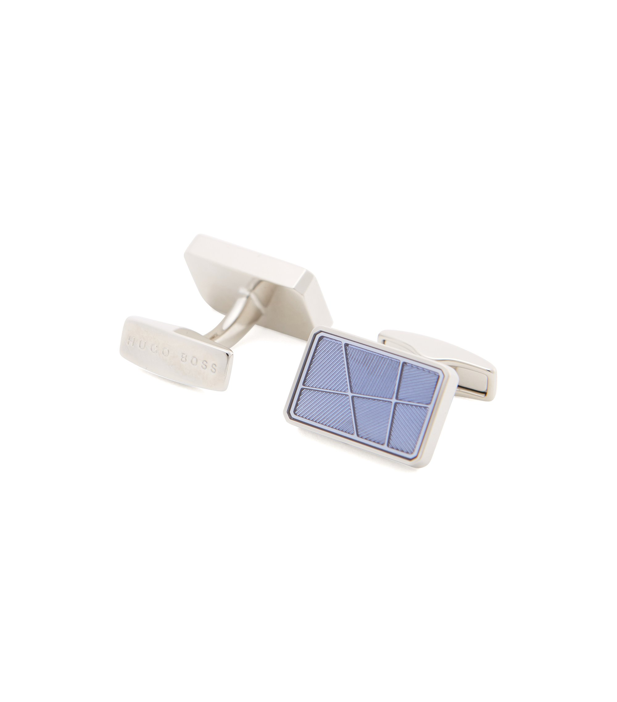 'Rodge' | Brass Etched Cufflinks, Blue