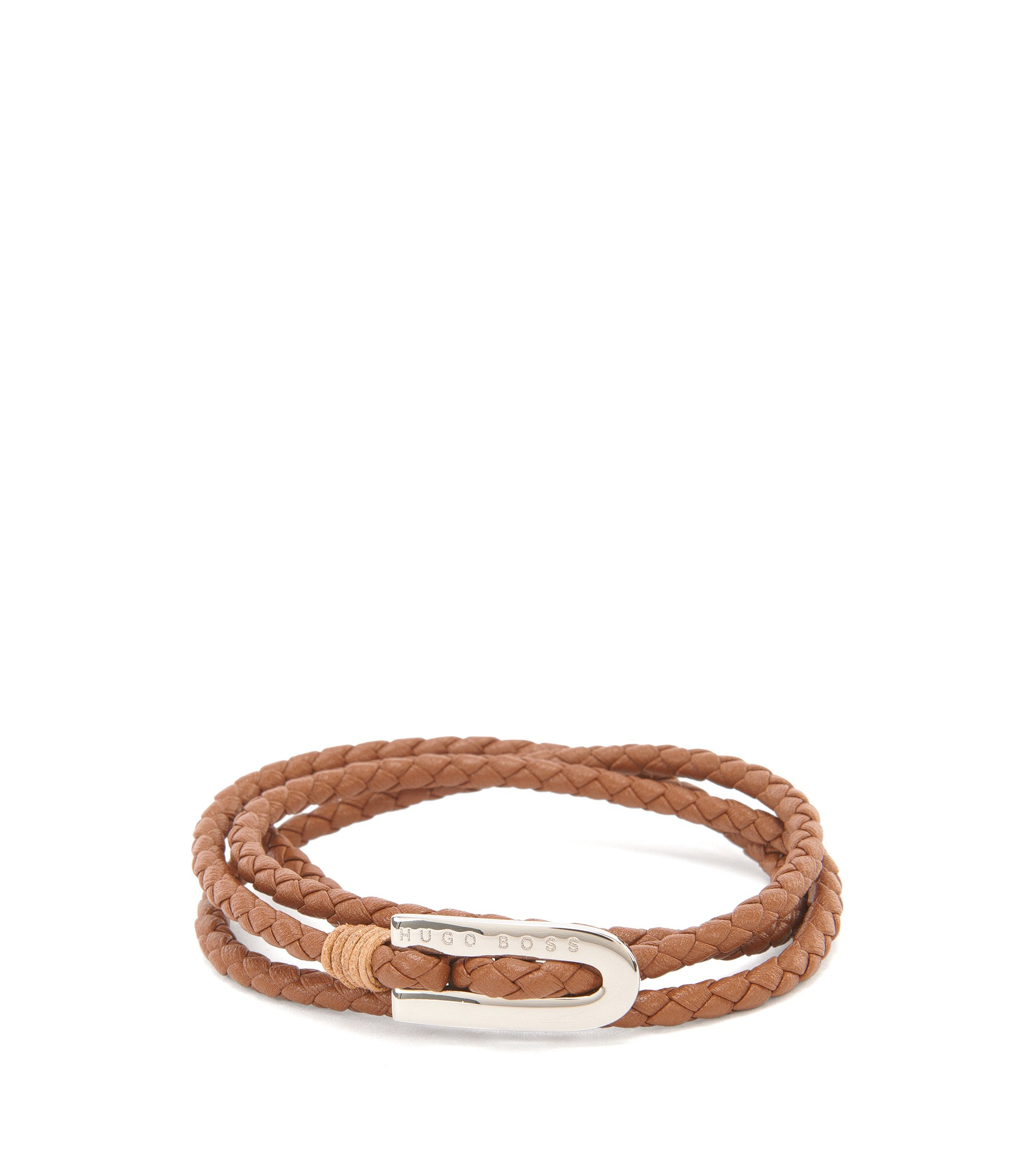 Calfskin Braided Bracelet | Barney, Brown