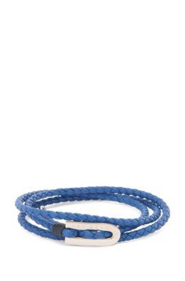 'Barney' | Calfskin Braided Bracelet, Blue